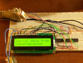 DIY HD44780 LCD serial driver for microchip pic