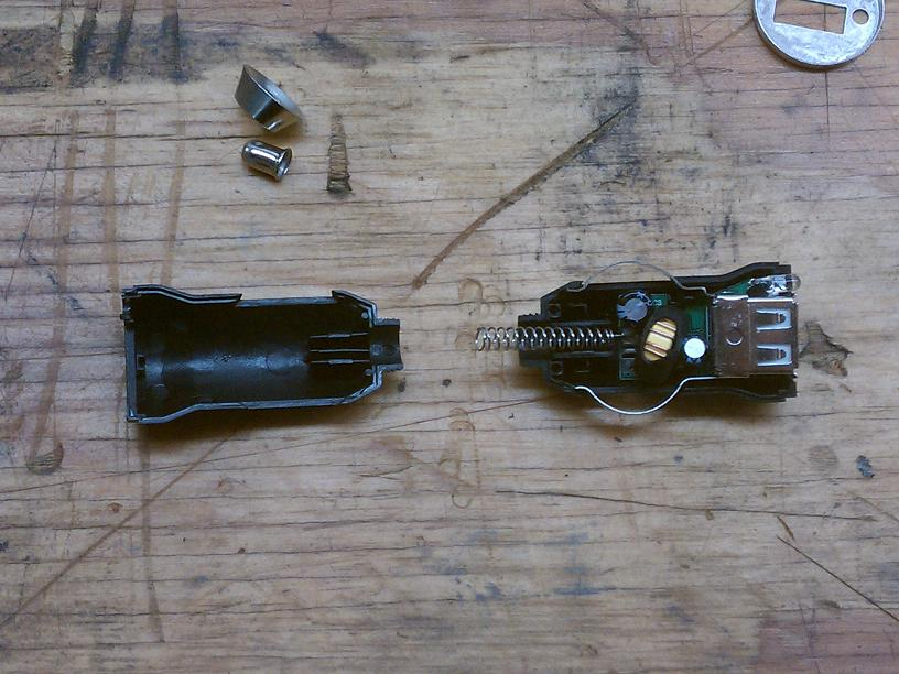 Disassembled charger